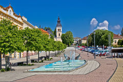 Town of Daruvar main square Stock Photography