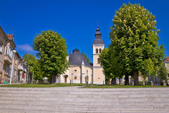 Town of Daruvar square and church. Croatia Royalty Free Stock Photography