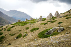 The town is dead in the Chegem gorge. In Kabardino-Balkaria Stock Image