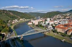 Town Decin, Czech republic Stock Photo