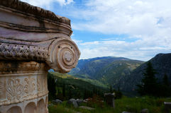The town of Delphi in Greece Royalty Free Stock Photography
