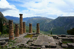 The town of Delphi in Greece Stock Image