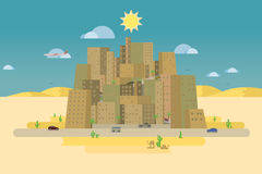 Town in the desert Royalty Free Stock Images