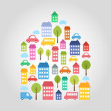 Town design elements Royalty Free Stock Photo