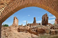 Town destroyed by war Royalty Free Stock Images
