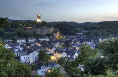 Town Dillenburg at dusk. Germany Royalty Free Stock Photography