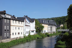Town Dillenburg, Hesse, Germany. River Dill in town Dillenburg, Hesse, Germany royalty free stock photography