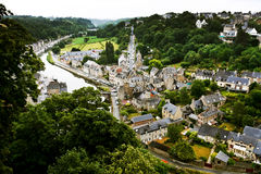 Town Dinan and river Rance, France Stock Photo