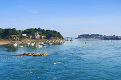 The town Dinard in Brittany. France Stock Images
