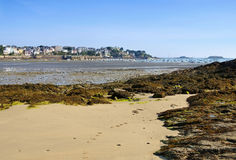 The town Dinard in Brittany. France Stock Photography