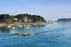 The town Dinard in Brittany. France Royalty Free Stock Images