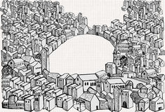 Town drawing Royalty Free Stock Photography