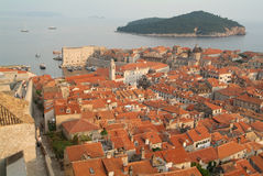 The town of Dubrovnik, Croatia. Unesco world heritage Royalty Free Stock Image