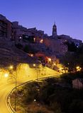 Town at dusk, Albarracin, Aragon, Spain. Royalty Free Stock Photos
