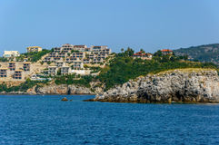 Town on the edge of the sea Stock Image