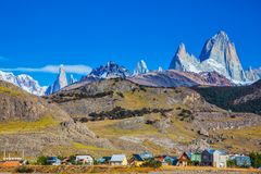 The town of El Chalten Royalty Free Stock Images