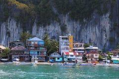 El Nido town. Town of El Nido, Palawan island, Philippines stock photos