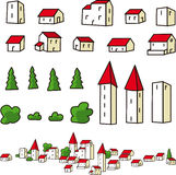 Town elements Royalty Free Stock Photography
