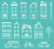 Town Elements separate objects Royalty Free Stock Photos