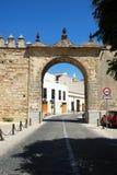 Town entrance, Jerez de la Frontera. Stock Photo