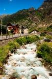 Town Espot river Eserita north Spain stock photos