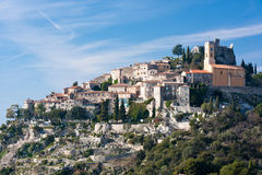 Town of eze. Ancient town of eze on top of a hill Royalty Free Stock Photos