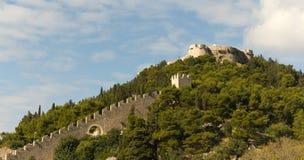 town för ö för croatia fästning hvar Arkivbild