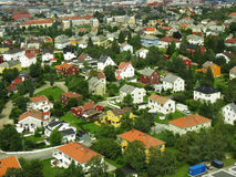 town för 2 hus Royaltyfria Bilder