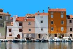 town för adriatic creshus Arkivbilder