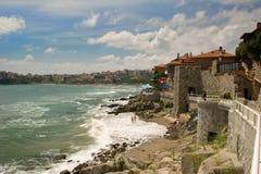 town för bulgaria överblicksozopol Royaltyfria Bilder