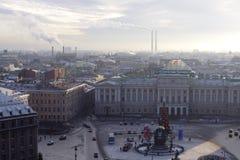 town för korridorpetersburg russia st Royaltyfria Bilder