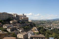 town för panorama för italy narni gammal Arkivfoton