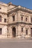 town för reinassance för ayuntamientofacadekorridor Royaltyfri Fotografi