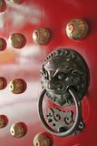town för tempel för handtag för porslindörrförmyndare Arkivbilder
