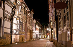 The old street of Hamelin Stock Photography