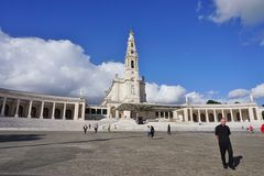 The town of Fatima in Central Portugal, home to a Catholic pilgrimage Stock Images