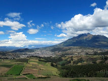 Town and fields in Otavalo Royalty Free Stock Photography