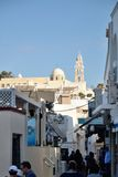 Town of Fira, Santorini, Greece Stock Images
