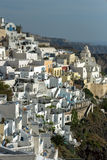 Town of Fira, Santorini, Thira,  Cyclades Islands. Greece Royalty Free Stock Photography