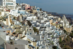 Town of Fira, Santorini, Thira,  Cyclades Islands. Greece Royalty Free Stock Photos