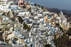 Town of Fira, Santorini, Thira,  Cyclades Islands. Greece Royalty Free Stock Images