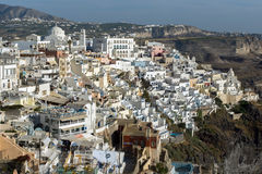 Town of Fira, Santorini, Thira,  Cyclades Islands Royalty Free Stock Photography