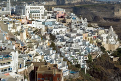 Town of Fira, Santorini, Thira,  Cyclades Islands Stock Photos