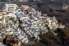 Town of Fira, Santorini, Thira,  Cyclades Islands. Greece Stock Photo