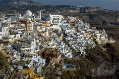 Town of Fira, Santorini, Thira,  Cyclades Islands Royalty Free Stock Images