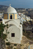 Town of Fira, Santorini, Thira,  Cyclades Islands. Greece Stock Images