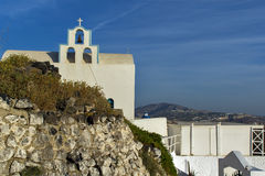 Town of Fira, Santorini, Thira,  Cyclades IslandsChurch in Fira, Santorini, Thira,  Cyclades Islands Stock Photography