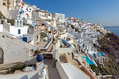 Town of Fira, Santorini, Tira Island, Cyclades Royalty Free Stock Image