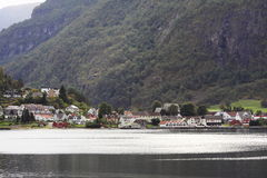 Town by fjord Royalty Free Stock Photo