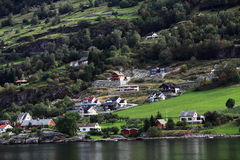 Town by fjord Stock Image